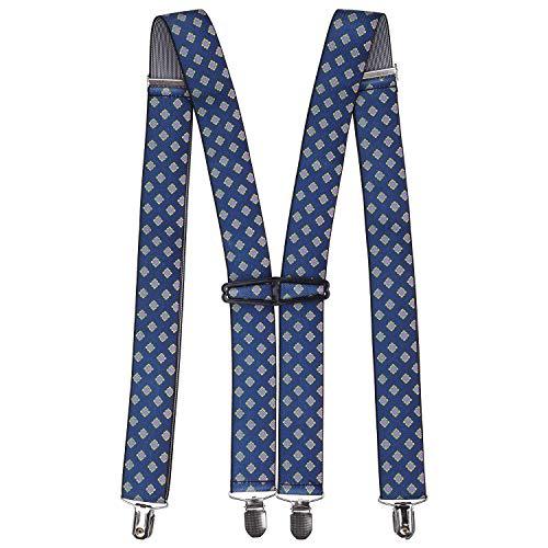 Trimming Shop Homme Élastique Bretelles Forme X Uni Bretelles Réglables avec Forte Métal Clip pour Pantalons, Jean, Pantalon, 35mm