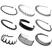Cuhair 9pcs Bandeau Serre-tête Accessoires Cheveux pour femme homme Sport