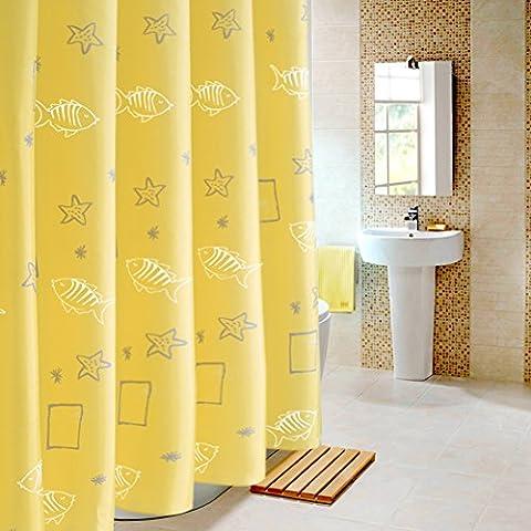 Rideaux de douche imperméable preuve de moule Épaissir polyester soleil