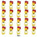 20 pz/Pacco Automatico Alimentatore di Pollo Acqua Distributore di Bevande Pollo Palla Capezzolo Acqua Mangiatoia Capezzolo Abbeveratoio per Pollame Pollo Anatra Gallina (20mm)