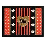Derriere La Porte A036-P060110 Fußmatte Sweet Home, rutschfester Gummi-Rückseite, Polyamid, 80 x 60 cm