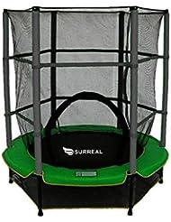 Surreal trampoline pour enfants avec filet de sécurité 140cm - 139,7cm - 4.5ft