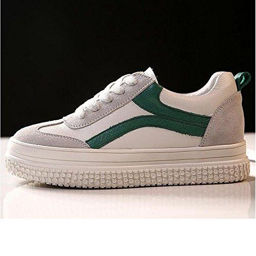 HAIZHEN  Stivaletto Scarpe da ginnastica delle scarpe da tennis delle scarpe da donna Scarpe da passeggio per la passeggiata primaverile Casual Outdoor Lace-up Platform per 18-40 anni Per 18-40 anni  Verde