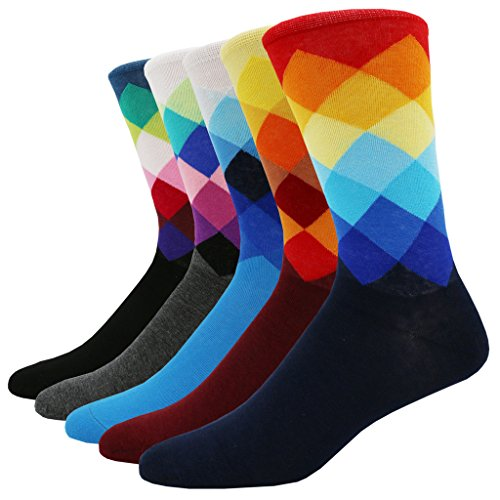 Pomlia® - Herren Socken 5 Paar Viele trendige Farben (B0007B3) Bunte Socken Für Männer