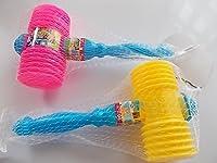 2 Stück Kinderhammer pink und gelb mit akkustischen Effekt!