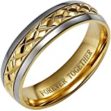 Brand New Mens Titanium Ring Engraved With Forever Together Comes In A Free Gift Box