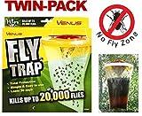 2 X Venus Fliegenfänger- Falle - Fangen Und Töten Bis Zu 20.000 Fliegen Insekten & Ungeziefer
