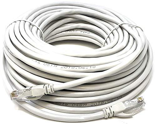 Mr. Tronic 25m Câble de Réseau Ethernet | CAT6, AWG24, CCA, UTP, RJ45 | Color Gris (25 Mètres)