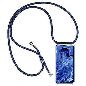 Caler Hülle Kompatibel mit iPhone 8/iPhone 7 Handyhülle Kette Kordel Hals Umhänge Band Transparent Handy Case with Necklace Slim Dünn Kratzfest [Stoßfest] Den Fallschutz Silikon Shell