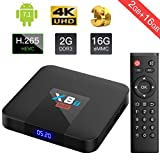 TICTID 2018 TV Box Android 7.1 2GB+16GB X8T Max eMMC Quad Core Arm Cortex-A53 Wi-FI 802.11b/g/n 2.4G Android TV Box