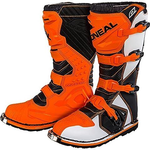 0329-310 - Oneal Rider EU Motocross Boots 43 Orange (UK 9)