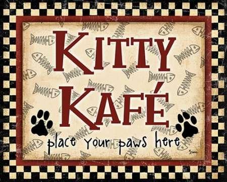Fine Art Print–Kitty Kafe par AD lignes, 12 x 9