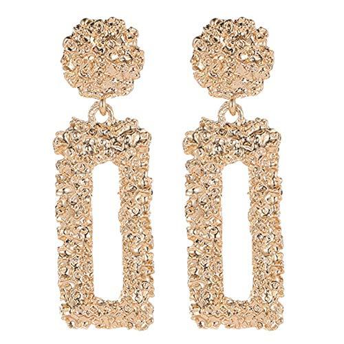 Meteoriten Parfüm (QWER Ohrringe für Frauen Mädchen Ohrringe Vintage Einfache Ohrringe,Gold)