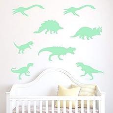 Wandaufkleber Wandtattoo Wandsticker, 9 Stück Leuchtende Wandaufkleber Fluoreszierende Kinderzimmer Neue Dinosaurier Home Decor
