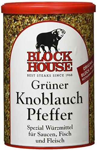 Block House Grüner Knoblauch Pfeffer, 1er Pack (1 x 200 g) - Der Dose Hamburger Aus