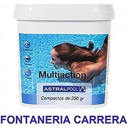 Cloro para piscina multiaccion Astral Pool (Multifuncion) 5kg, tabletas 250g