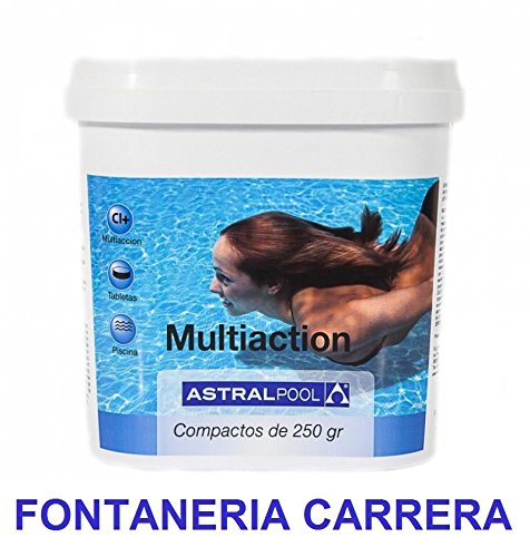 Cloro para piscina multiaccion Astral Pool (Multifuncion) 5kg, tableta