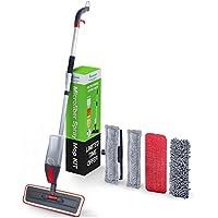 Spray Mopa Kit-Mr. cleann Casa Juego Incluye 2almohadillas de microfibra para limpieza de suelos de vinilo de madera, cerámica, y 2para Windows