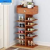 Schuhregal Feifei Wohnzimmer Schuhschrank Große Kapazität, Rack, Einfache Multi-Layer-Haushalt Kleine Mini-Raum Economy Typ 5 Größe (größe : 40 * 24 * 101cm)