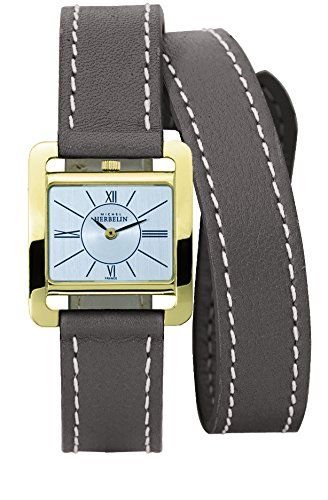 Michel Herbelin 5th Avenue Women's Quartz Watch with White Dial Analogue Display and Beige Leather Strap 17137/P01TAL