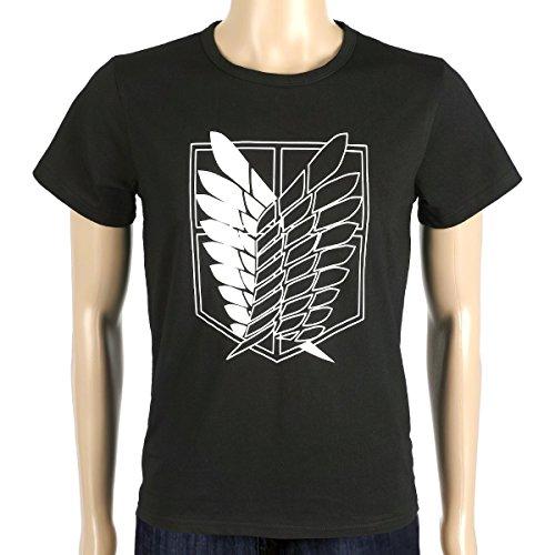 Coolchange t shirt di attacco dei titani, taglia: s