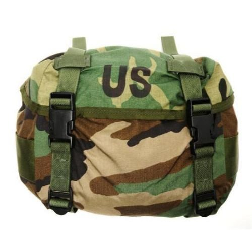 NEW US Army Military Genuine Issue GI Surplus Field Training Waist Utility Fanny Butt Pack ALICE Woodland Camouflage Bag by USGI - Army Surplus Camouflage