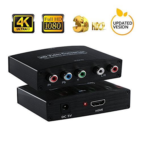 HDMI a YPbPr Componente | 4K HDMI a RGB adaptador convertidor con...