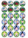 Ben & Holly 2 - Juego de 24 elementos decorativos para magdalenas