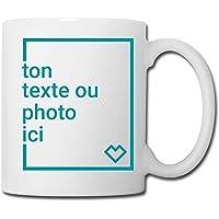 Spreadshirt Créez Votre Propre Tasse Personnalisée avec Texte ou Photo Individuelle Mug Blanc, blanc
