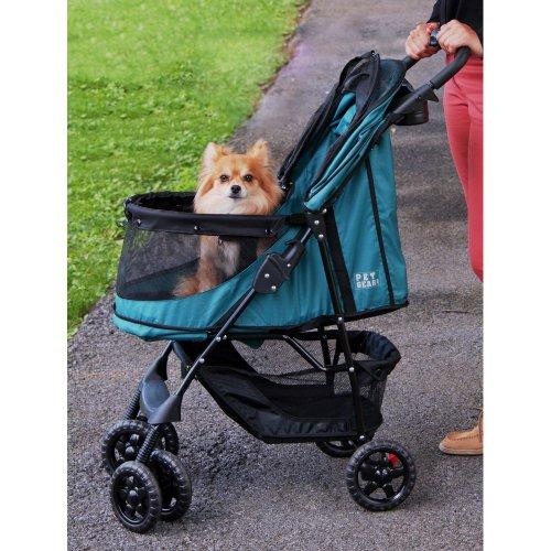 Rosewood 02669 Pet Gear Hundebuggy ohne Reißverschlüsse, smaragdgrün - 4