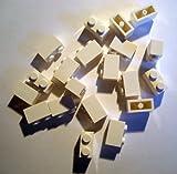 LEGO CITY - 20 STEINE mit 1x2 Noppen in weiss - 3004 BAUSTEINE