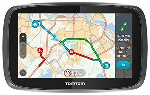 TomTom GO 51 World Traffic Navigationssystem (12,7 cm (5 Zoll) resistives Touch Display - Bedienung per Fingergesten, Lifetime TomTom Traffic & Maps, (Navi Sprachsteuerung)