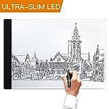 A4 LED Leuchttisch, A4 Light Box LED Copy Board Zeichnung Light Pad mit USB-Stecker und Kabel, Kunst Handwerk Zeichnung Tracing Tattoo Board für Künstler, Zeichnung, Animation, Skizzierung, Entwerfen (A4-LITE)