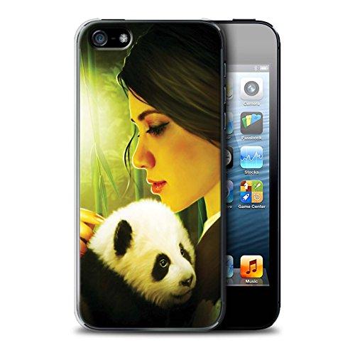 Officiel Elena Dudina Coque / Etui pour Apple iPhone 5/5S / Petit Panda/Bambou Design / Les Animaux Collection Petit Panda/Bambou