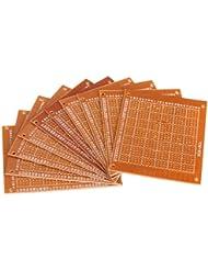 Tenflyer 10pcs 7x9cm PCB en blanco de la tarjeta de circuitos del prototipo de papel Panel Circuito de Soldadura