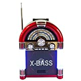 Noizzy Box Retro M Rechargeable Compact Multimedia Radio with USB, TF Card and Ambient light (RED)