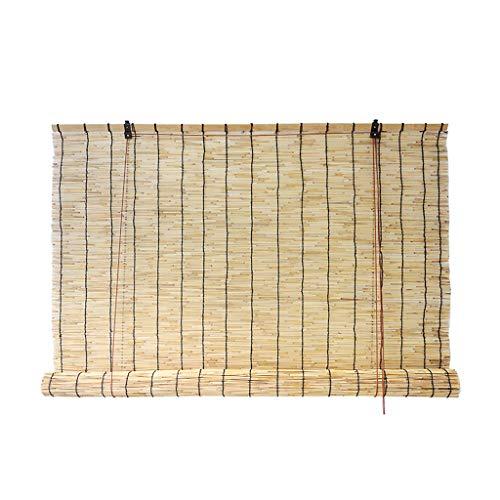 Reed Vorhänge Jalousien Stroh Vorhänge Bambus Schatten Partition Vorhang Teestube dekorative Rollos, anpassbare Größe (Reed Jalousien)
