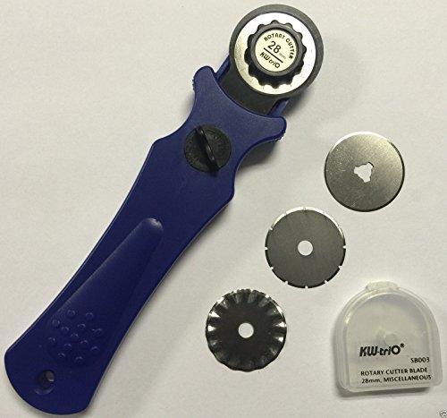 3in 1kw-trio Heavy Duty Rotary Cutter mit Soft Griff Dia 28mm + 3Klinge sowohl für links und Rechtshänder Nutzer