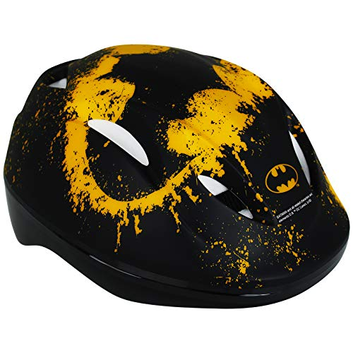Kinderfahrradhelm mit Motivauswahl - Fahrradhelm - Rollschuhhelm - Inlinerhelm - Skateboardhelm (Batman)