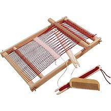 Webrahmen aus Holz rund Ø 210x17 mm Wolle zum runden Weben mit Garn