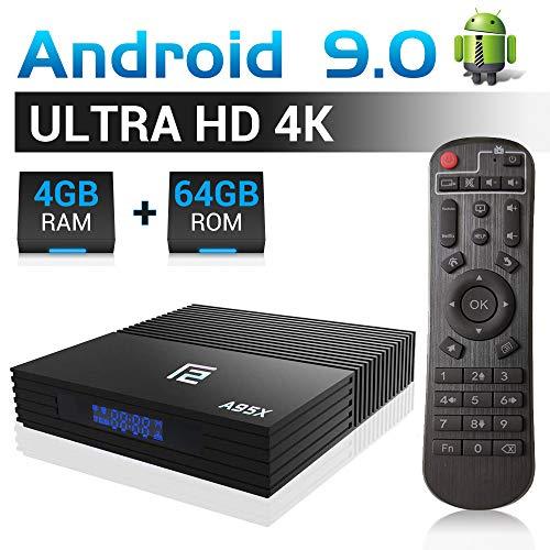 A95X F2 Android 9.0 TV Box, 4GB RAM 64GB ROM TV Box Amlogic S905X2 Quad-Core 64bits Dual-W