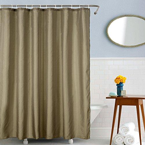 Deconovo Rideau Douche Original Impermeable en Tissu Pas Cher Textile Taupe 183x183cm