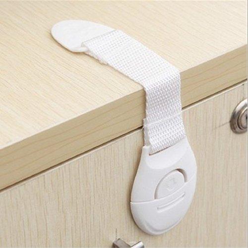 CalMyotis® Baby Sicherheit Sperren Sicherheitsschlösser Kindersicherheit Verriegelungen, Tür Schrank Kühlschrank Schublade Sperrt(10 Stück)