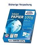 AVERY Zweckform 2566 Inkjet Druckerpapier (DIN A4, 100 g/m², blickdicht, seidenmatt, 500 Blatt) hochweiß