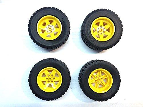 Preisvergleich Produktbild Lego Technic 4x Reifen Gelb 94.3 x 38 R