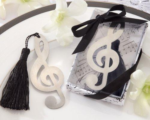 Lotto di 20Meravigliose puntos de Libro Nota Musicale in scatola da regalo + fiocco-Segnalibro, punti libri dettagli di Matrimonio, Comunione, Battesimo e compleanno