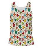 Snoogg Abstract Colorful Stars Mens Casual Beach Fitness Vests Tank Tops Sleeveless T shirts