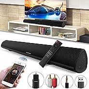 شريط صوت Soundbar TV 34 بوصة 2.0 قناة قوية باس بلوتوث نظام مسرح منزلي مع منفذ RCA بصري USB للتحكم عن بعد تكنول