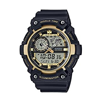 Casio Youth-Combination Analog-Digital Gold Dial Men's Watch – AEQ-200W-9AVDF (AD212)