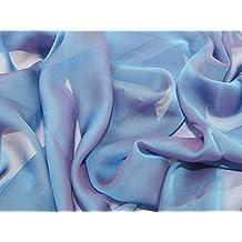 kationisch Chiffon Kleid Stoff Blüten – Meterware + Frei Minerva ... 727e7a0a37